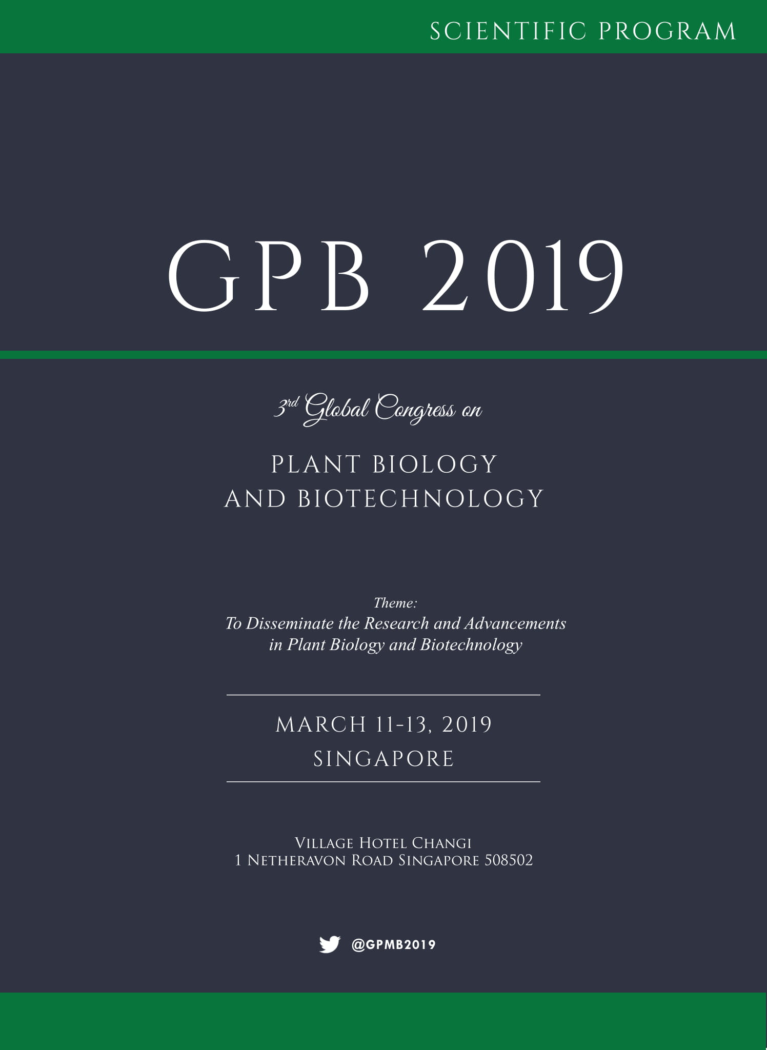 3rd Global congress on Plant Biology and Biotechnology